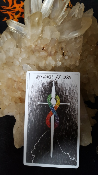 reversed ace of swords